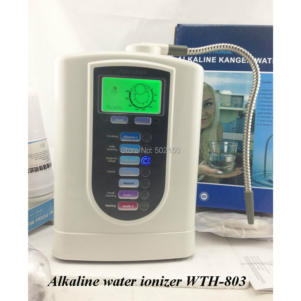 Alkaline Water ionizer machine WTH-803 to alkaline your tap water to be healthier and more helpful on drinking and drinking hydrogen water machine and water ionizer wth 802