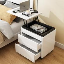 Многофункциональный подъемный прикроватный столик, маленький компьютерный стол, простая спальня, белая краска для фортепиано, маленький шкафчик для хранения
