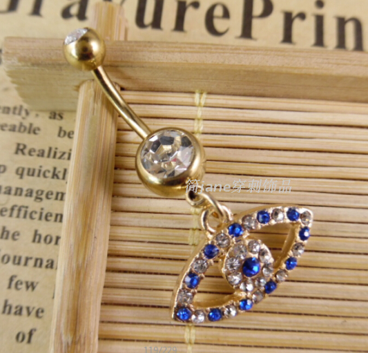 Rhinestone  Piercing Spiral Ring Bell Button Rings Sexy Jewelry Body Accessories Navel Women Body Chains Plug Wholesale 18 style
