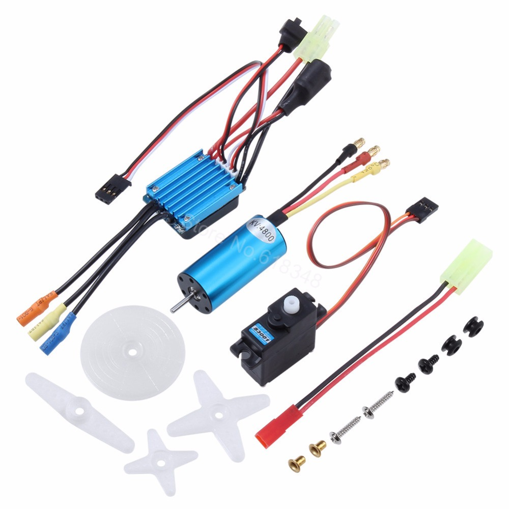 HSP 2040 Brushless Motor 4800KV & 18246 Waterproof Brushless ESC 25A For 1/16 RC Model Car Trcuk Buggy TROIAN PRO KIDKING new arrival hsp 11185 motor gear 15t for rc 1 10 model car buggy truck 94110 94115 pro