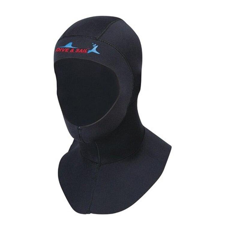 Marca 3mm neopreno buceo con equipo de buceo sombrero capucha cuello invierno cubierta Swim Wetsuit proteger pelo