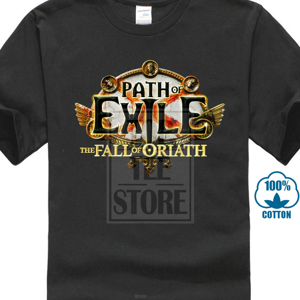 Path Of Exile The Fall Of Oriath Fan Mmorpg Gaming T Shirt Best Gifts For Friends Summer New Men Cotton T-shirt image