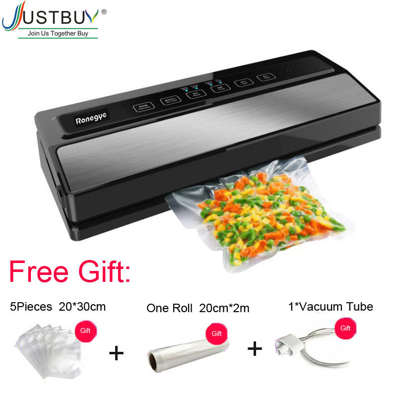 Automatic 110W Vacuum Sealing Machine Home Best Vacuum Sealer Fresh Packaging Machine Food Saver Vacuum Packer with 1roll bag-in Vacuum Food Sealers from Home Appliances    1