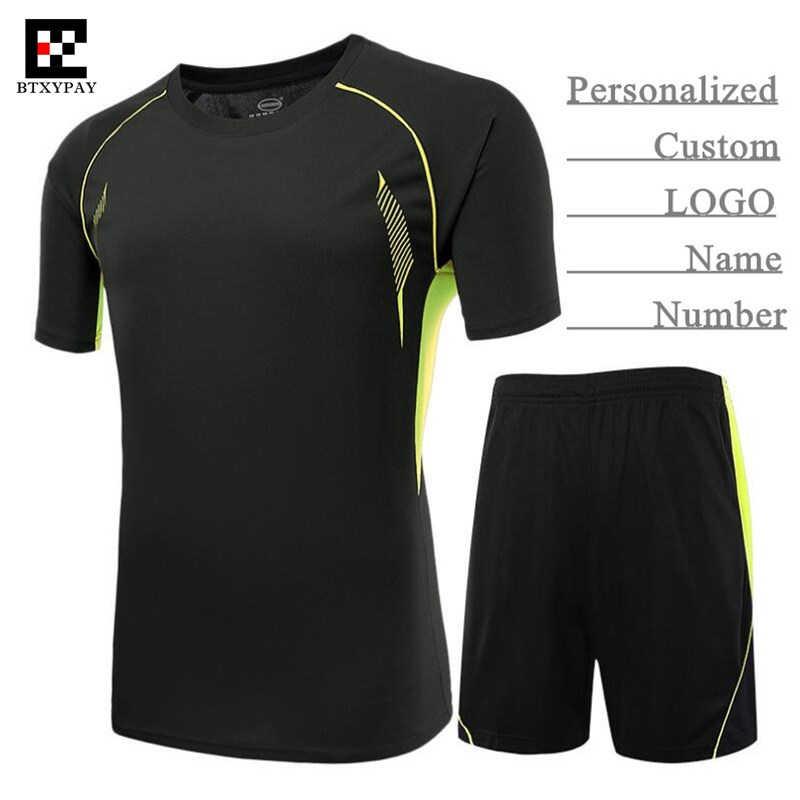 50 takım Özel LOGO ve Isim ve Numara, Yetişkin Adam ve Erkek Pro Futbol Forması Setleri, çocuk Futbol Kıyafetleri (T-shirt + Şort), Eğitim ve Maç