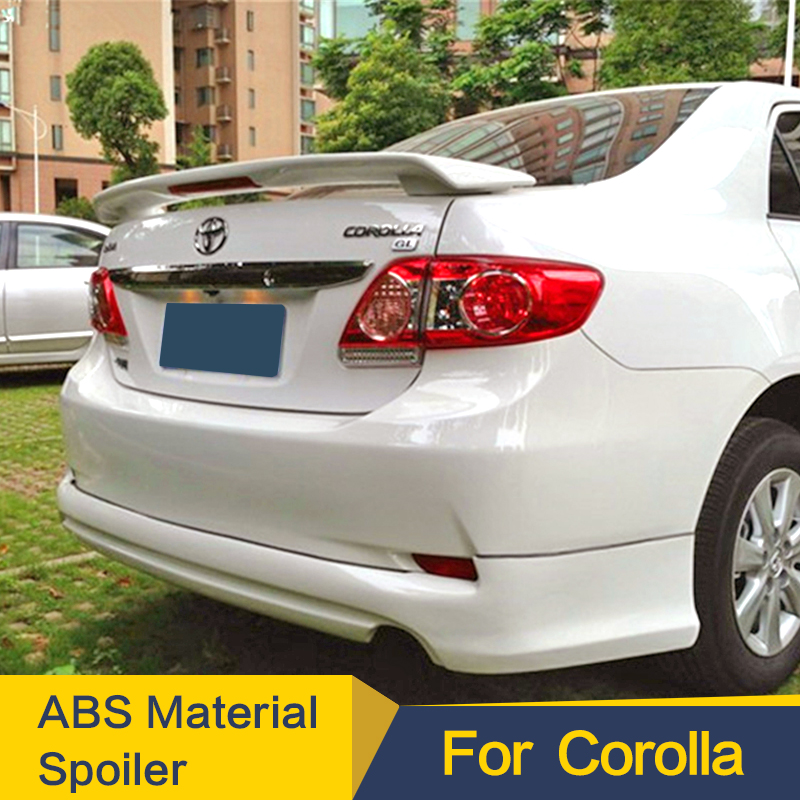 08-13 Fit For Toyota Corolla ALTIS 10th 4D Sedan Rear Roof Spoiler Wing Unpaint