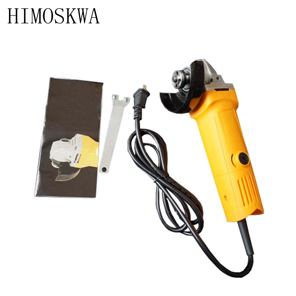 цена на HIMOSKWA 220V 720W 13800rpm 100mm High quality industrial angle grinder Power tools cutting machine