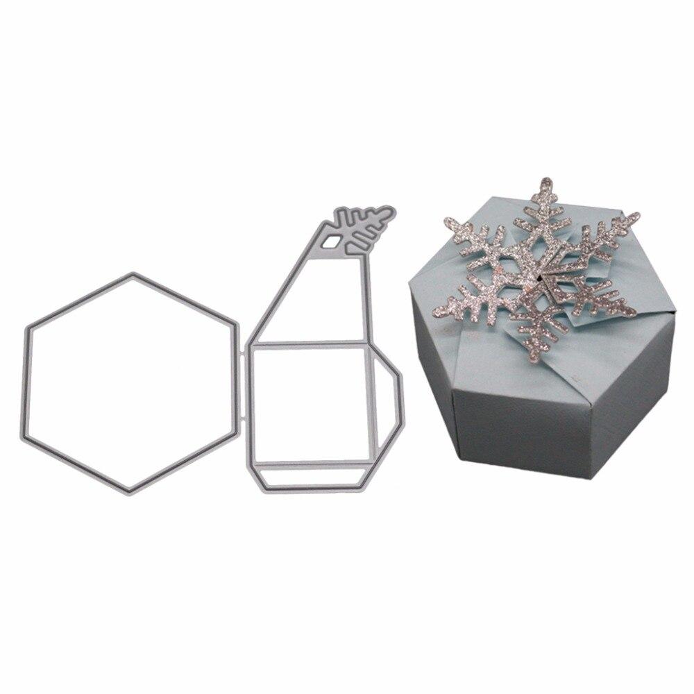 3D Gift Box Metal Cutting Dies Stencil DIY Scrapbooking Album Stamp Paper Card Embossing Craft Decor in Cutting Dies from Home Garden