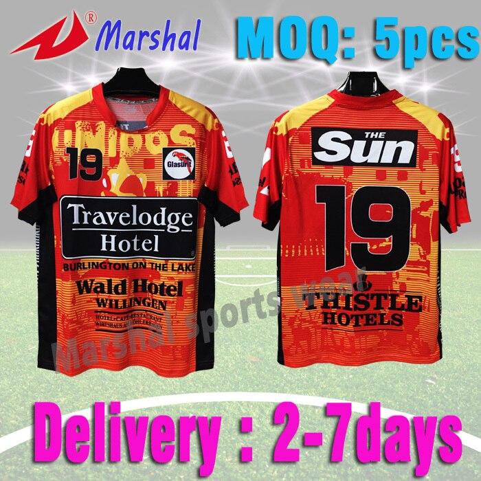 a3bda9d114 Venda quente orange projeto do jérsei de futebol do futebol t camisa grau  original em estoque 100% full sublimada uniforme de futebol