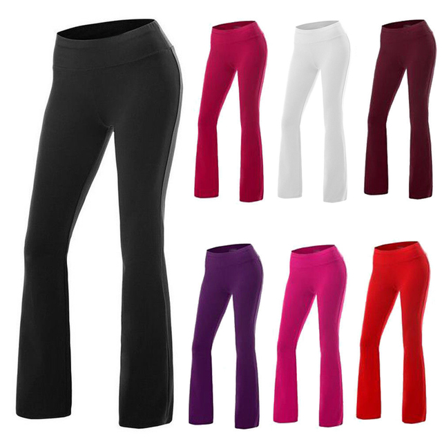 CROSS1946 6Colors Women Yoga Pants Loose Gym Workout Training Trousers Elastic Female