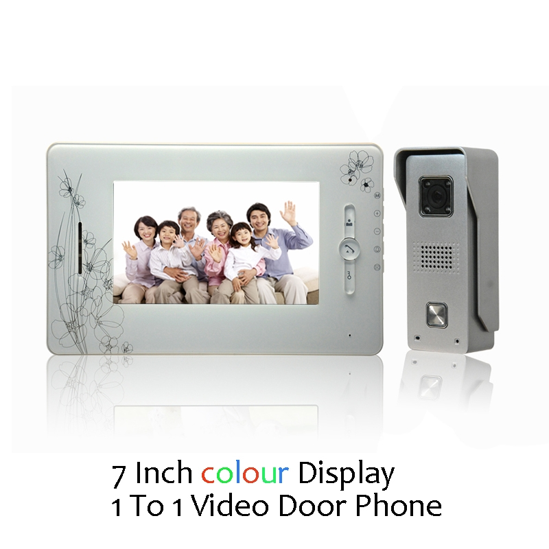 (1 Set) Door Intercom Talkback System HD Camera Night Version One To One Monitor Video Door Phone Access Control 7 Inches