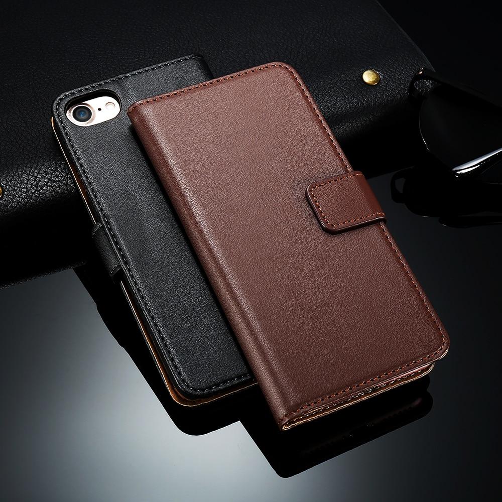 Kisscase elega de lujo retro real de cuero flip case para el iphone 4 4S 4g acce