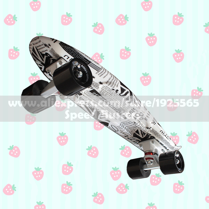 ФОТО MIni Cruiser High Quality Retro Skateboard Starry Sky Pattern Mini Board long board wheels Fish board longboard skateboard PN14
