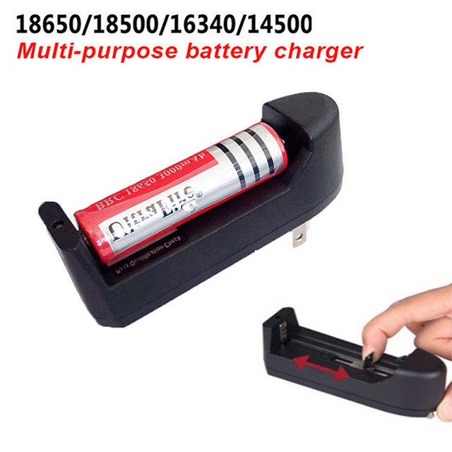 Multi-purpose Smart Battery Charger For 18650/18500/16340/14500 Battery Rechargeable Portable Quick Charging Slot US EU Plug