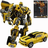 In Stock 21Cm Alloy Version Bumblebee Figures Weijiang Robot Deformation Cars Action Toys VS Optimus Prime