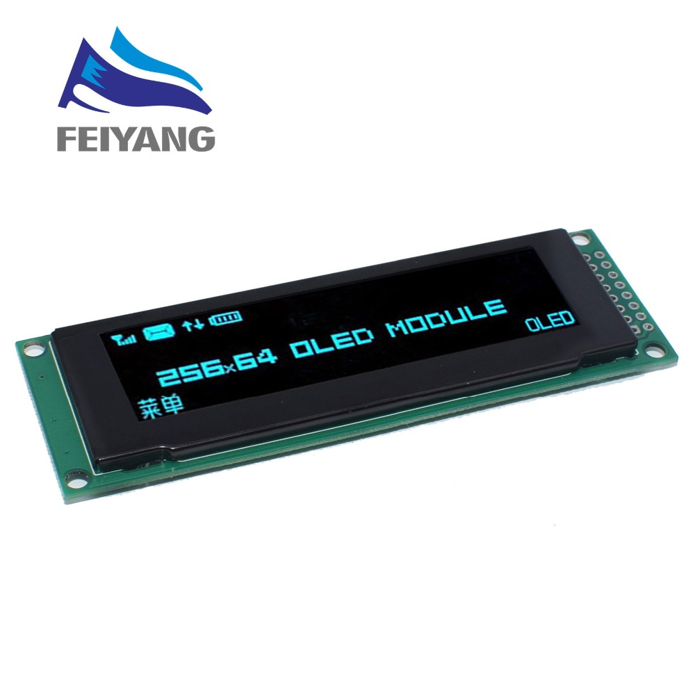 """Image 3 - NEW OLED Display 2.8"""" 256*64 25664 Dots Graphic LCD Module Display Screen LCM Screen SSD1322 Controller Support SPI-in LCD Modules from Electronic Components & Supplies"""
