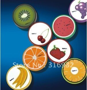 Summer fresh fruit printed contact lens case, lens mate box with mirror