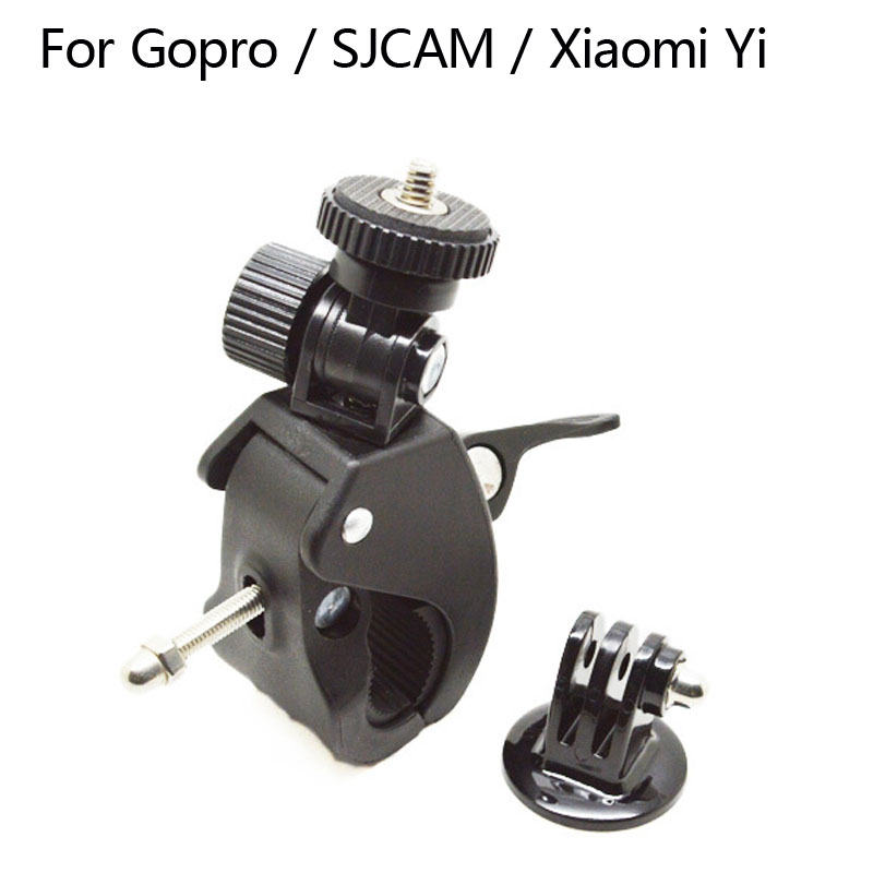For Gopro Accessories Bike Bicycle Motorcycle Handlebar Handle Bar Tripod Adapter For SJCAM SJ4000 Xiaomi Yi Eken H9 Camera