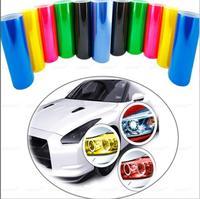 40cm X 900cm Wholesale Wider Transparent Car Headlight Taillight Tint Vinyl Protect Film Sticker 12 Colors