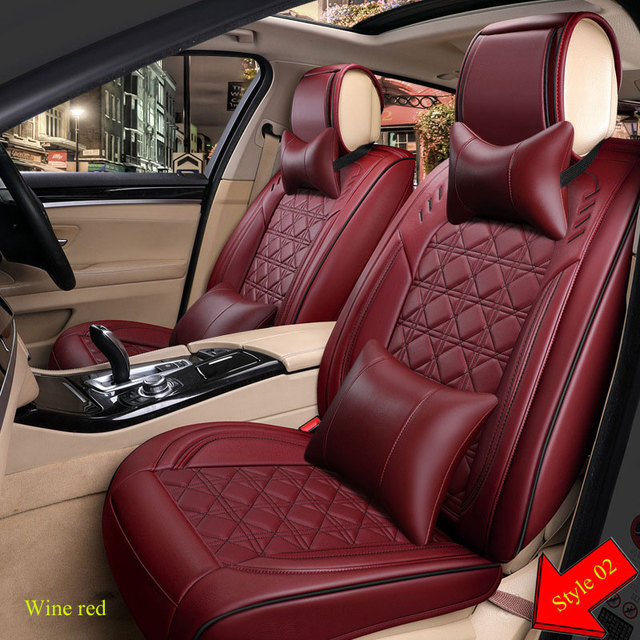 Car Travel PU leather seat cover four seasons Universal Car Seat Covers for Vehicles mazda 3 6 toyota RAV4 Hyundai volvo ford