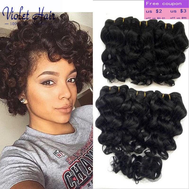 7A Short Hair Cuts Women Afro Hair Indian Virgin Hair Deep