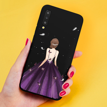 ASINA Beautiful Case For Samsung Galaxy A7 2018 3D Relief Girls Cover A6 A8 Plus A30 A50 Bumpers