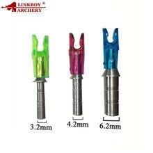 12pcs Linkboy Archery Aluminum Arrow Pin Nock Shaft Id4 2mm 3 6 Id Size S 2 45mm Set Compound Bow