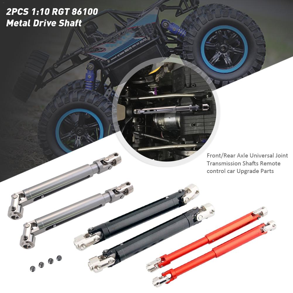 Color: Orange Parts /& Accessories 2PCS R86042 Metal Drive Shaft Front//Rear Axle Universal Joint Transmission Shafts for 1:10 RGT 86100 Model Cars Upgrade Parts