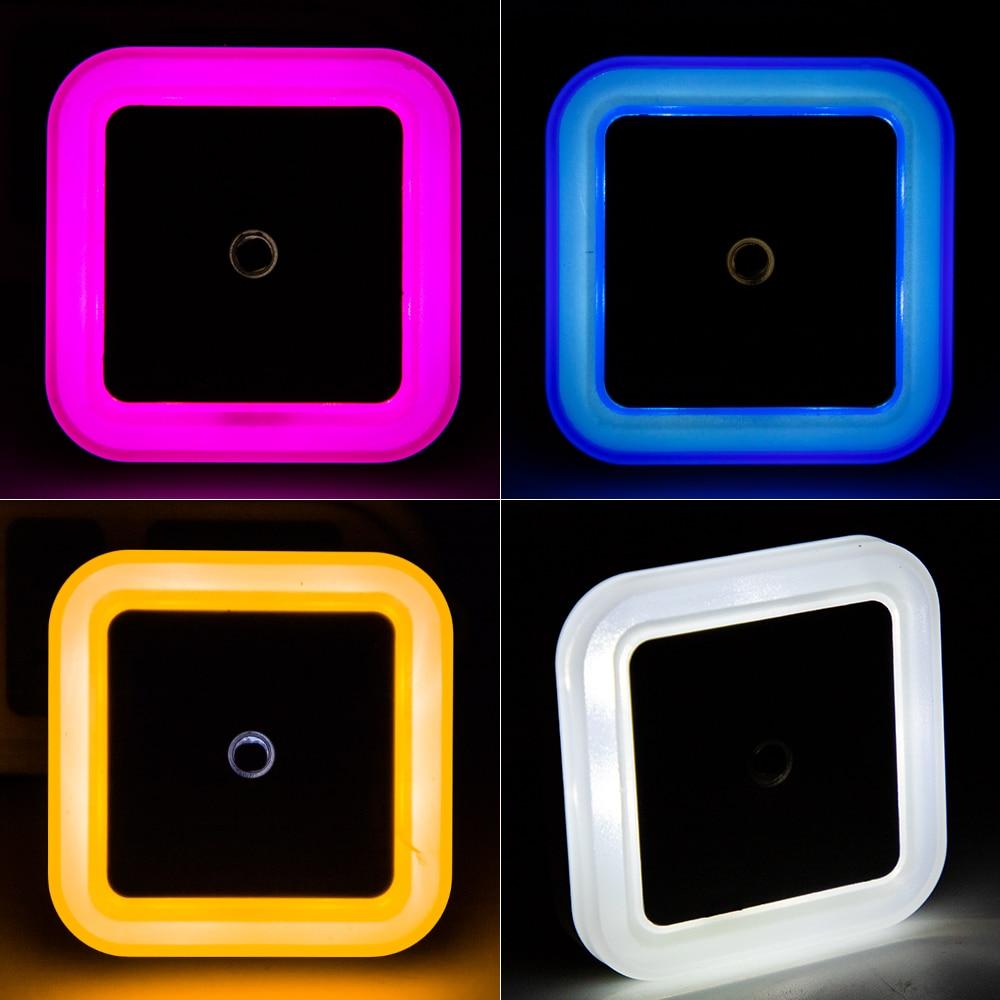 Nersury Light Sensor LED Night light Square Lamp Children 110V 220V Bedroom Mini Smart Night Light Kid LED Sensor Night Lamp 5