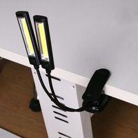 5W Adjustable Led Flashlight COB LED Torch 2 Modes Torch Independent Double Lamp Holder Design Used