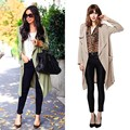 2015 new autumn fashion Casual women's Trench Coat long Outerwear loose lapel clothes for lady good quality 63~