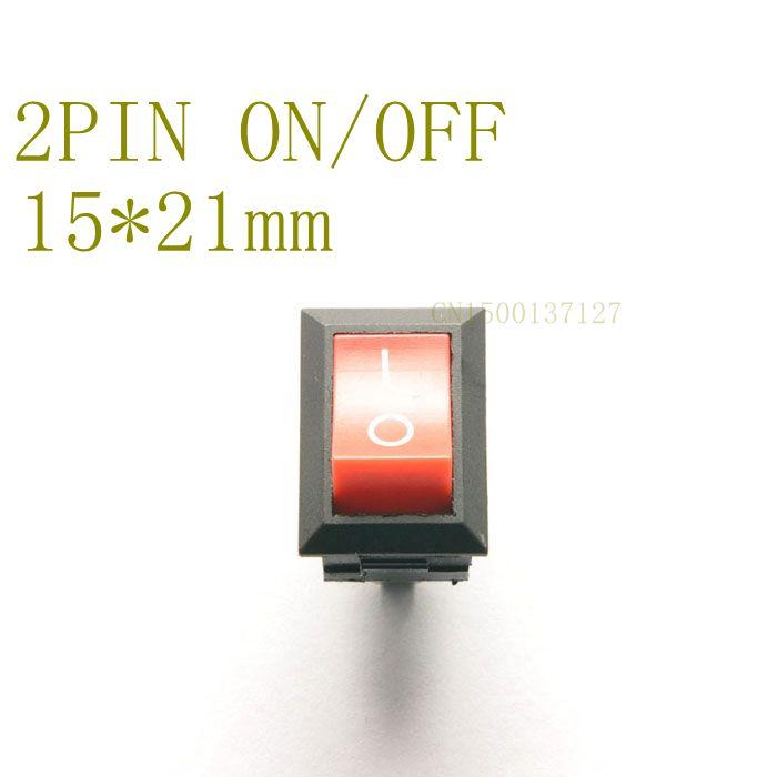 10pcs 10*15mm SPST 2PIN ONOFF Boat Rocker Switch 6A250v Car Dash Dashboard Truck RV ATV Home best quality