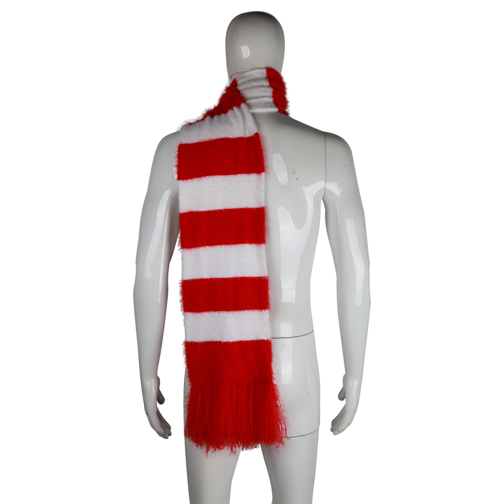 2018 Cartoon The Grinch Scarf Red And White Scarf Cosplay The Grinch Costume Chrismas Gift Halloween Party Prop (2)