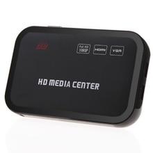Горячая-Full HD 1080P медиаплеер центр RM/RMVB/AVI/MPEG Мульти Медиа Видео плеер с HDMI YPbPr VGA AV USB SD/MMC Порт дистанционного управления