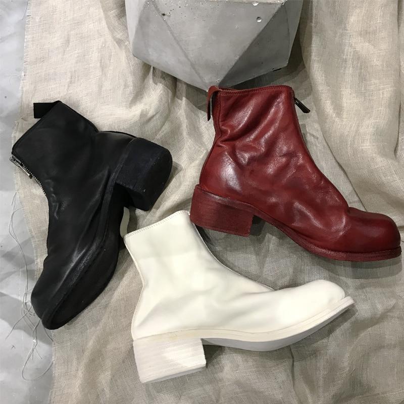 En Dames Pompes Vache Talons Décontractées pl1 Rond chaussures Veau Carrés Cuir pl1 Femmes Hauts Partie Bottes Bout Chaussures Pl1 Mi Zip wXTPiOZuk