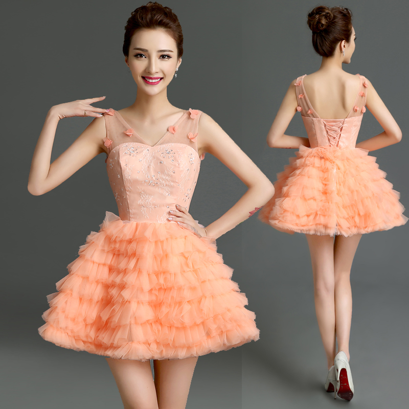 Popular Pink Feather Cocktail Dress-Buy Cheap Pink Feather ...