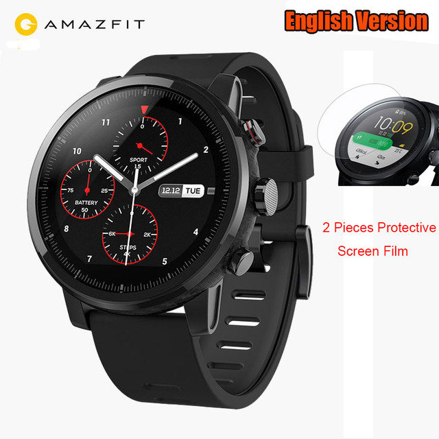 b6dc0f3f3cc3 Global Version Xiaomi HUAMI AMAZFIT Stratos Smart Sports Watch 2 WOS 2.0  5ATM Water Resistant GPS Swimming Support Strava app