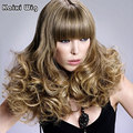 Long Curly Blonde Wig Synthetic Wigs For Black Women Natural Hair Wig Ombre Cheap Sexy African Wigs Cosplay Lolita Hairstyles