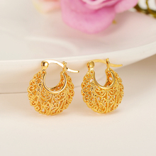 Bangrui 1.7CM/(TWO COLOR)Earrings for Women Gold Color & Copper Stud Earrings Girl Jewelry Arab/Africa Earrings Middle East Gift