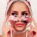 Aviator Pink Sunglasses Women 2017 Luxury Brand Eyewear Women Men Alloy Flat Sunglasses Cateye Sexy Mirror Sun Glasses Lunette