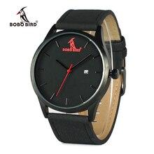 Бобо птица WG15 Ретро Круглый наручные часы мужские Часы лучший бренд класса люкс Часы с Календари Дисплей в подарочной коробке принять OEM
