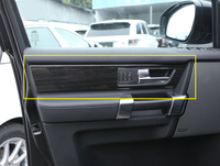 For Land Rover Discovery 4 LR4 Interior Door Handle Panel Cover Trim ABS Black Wood Grain