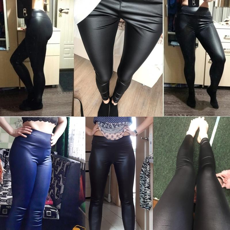 HTB1e24AX4D1gK0jSZFsq6zldVXaj CUHAKCI Legging Free dropshipping Women Hot Sexy Black Wet Look Faux Leather Leggings Slim Shiny Pants Plus size S M L XL XXL