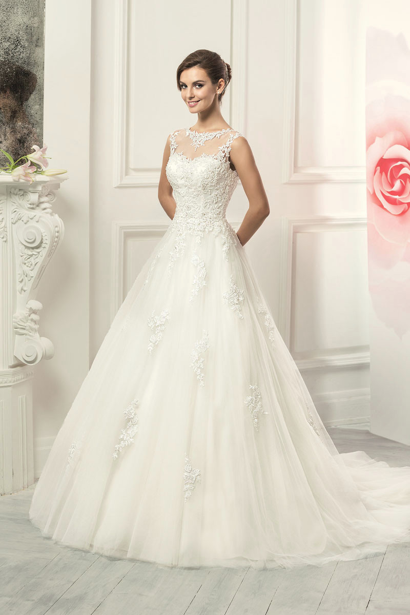 2016 New Ivory Lace Wedding Gowns Plus Size Korean Wedding Dress ...