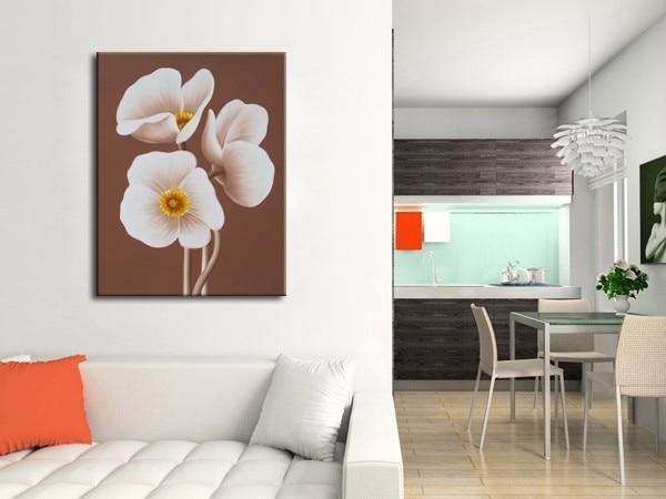 Moderní ručně malované plátno Vysoce kvalitní nástěnné obrazy dekorace olejomalba pro obývací pokoj nástěnná výzdoba malba čerstvými květinami