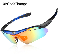 Coolchange UV400 Polarized Cycling Glasses Bike Goggles Outdoor Sports Bicycle Sunglasses 5 Lens TR-90 Gafas Ciclismo