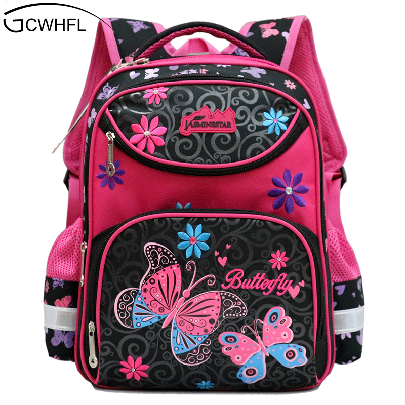 GCWHFL Backpacks For School Girls School Bags Floral Children Schoolbag For Primary Girl Mochila Good Quality Kids School Bag