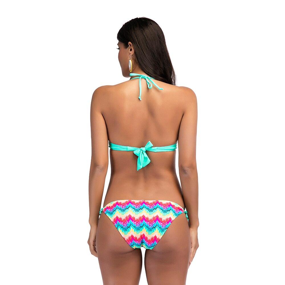 1e3773c36dd96 stripe shell V shape bikini 2018 sexy hot funny Brazilian ladies nude night  bikini tropical swimsuit female push up swimwear -in Bikinis Set from  Sports ...