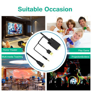Image 4 - VGA to HDMI Converter Adapter with 3.5mm Audio and USB Charging Port for HDTV Monitor Projector VGA HDMI Cable