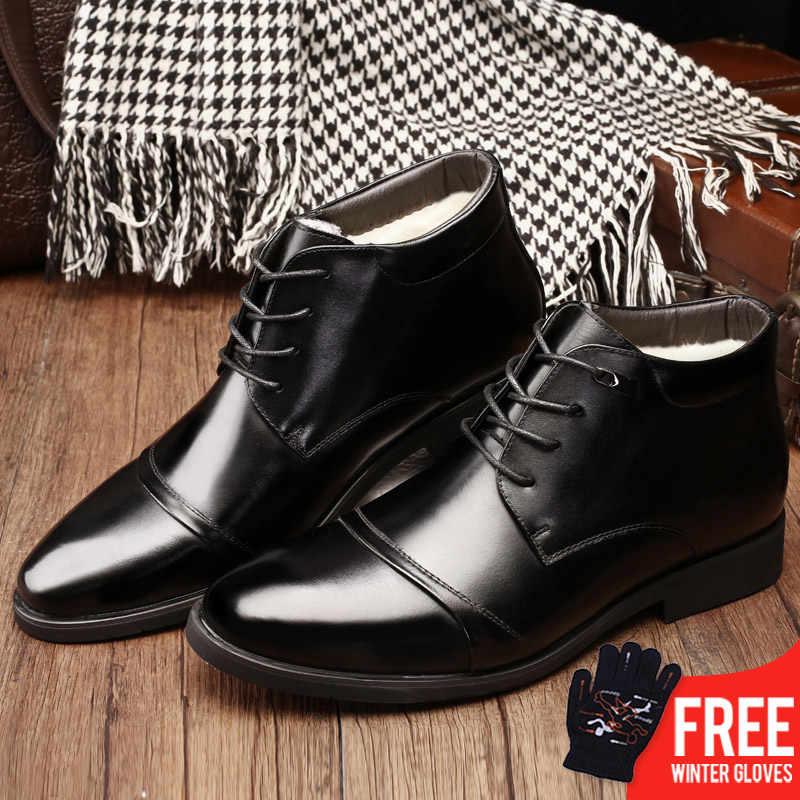 cae6d3bfc794 OSCO мужские черные кожаные ботинки в деловом стиле, деловые мужские ботинки  на шнуровке,