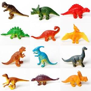 Image 2 - 12 adet eğitim gerçekçi sürüngen aksiyon figürleri ile set dinozor kertenkele timsah kaplumbağa mükemmel parti Model oyuncaklar